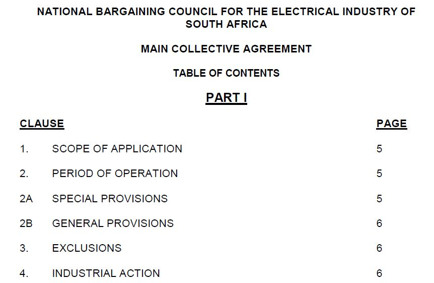 Collective Amending Agreement New Terms Conditions Of Employment