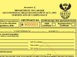 WARNING: DO NOT SIGN CERTIFICATES OF COMPLIANCE FOR WORK YOU HAVE
